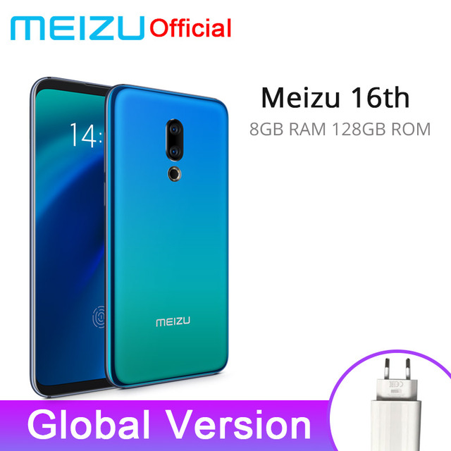Global Version Meizu 16th 16 th Mobile Phone 8GB 128GB Snapdragon 845 Octa Core 6'' 2160x1080P 3010mAh Battery Dual Rear Camera