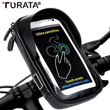 Turata 6.0″ inch Bike Bicycle Waterproof Cell Phone Bag Holder Motorcycle Mount for Samsung Galaxy S8 plus iphone X Xiaomi LG