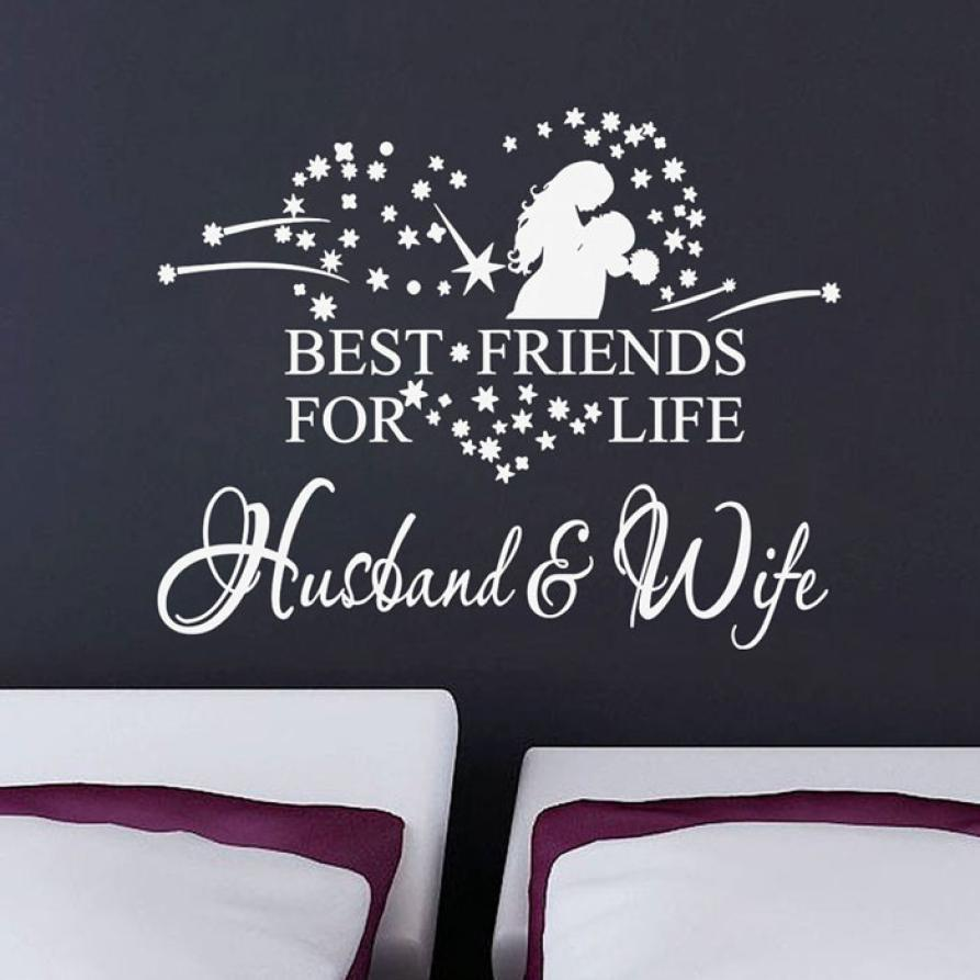 Super Deal Wall Sticker New Husband And Wife Vinyl Decal