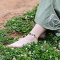 Tornozeleiras mulheres 2016 novos acessórios DIY weave ágata shell retro simples corda pé jóias pulseira tornozeleira tornozeleira presente T032