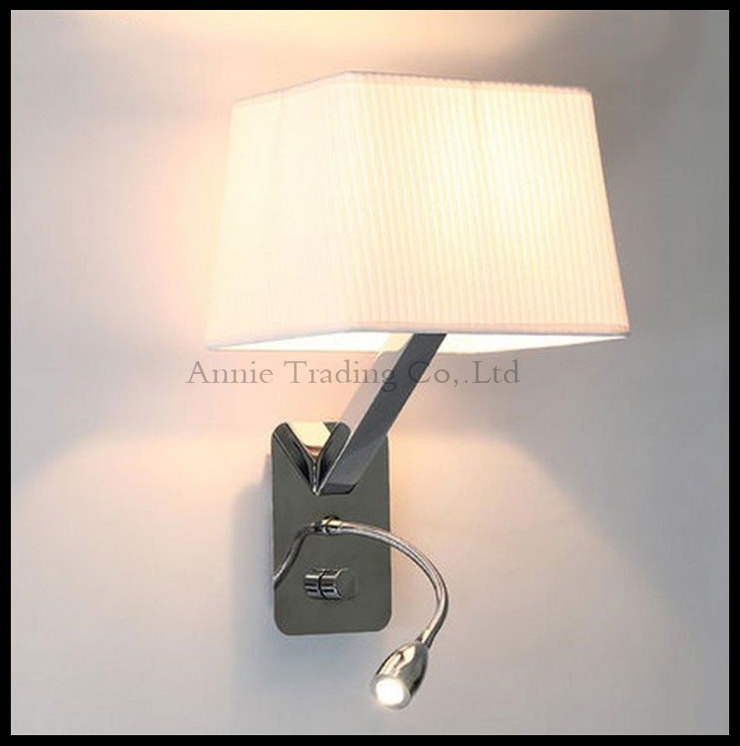 modern LED hose wall lamp aisle hall Read hotel rooms knob switch on/off sconces black white fabric flannel lampshade shade luz куртка кожаная mango mango ma002ewwyi62