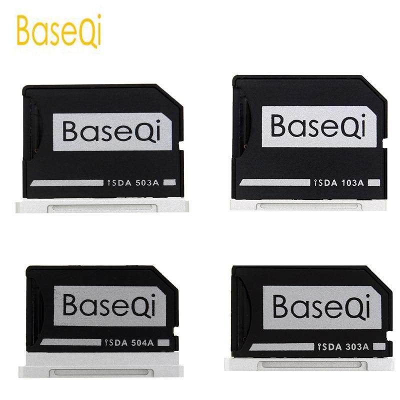 """Adaptateur de carte mémoire Micro SD / TF BaseQi Aluminium Expand Lecteur de carte SD de stockage pour MacBook Pro Retina 13 """"/ 15"""" et MacBook Air 13 """""""