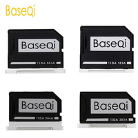BaseQi אלומיניום מיקרו SD/TF כרטיס מתאם הרחבת זיכרון SD כרטיס קורא עבור Macbook Pro רשתית 13 ''/ 15