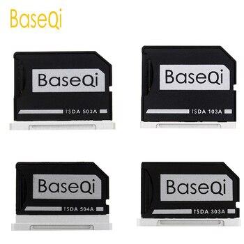 BaseQi الألومنيوم مايكرو SD إلى SD بطاقة الذاكرة محول الشبح محرك قارئ بطاقة ل ماك بوك برو الشبكية 13 /15 و ماك بوك اير 13
