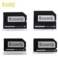 BaseQi Alüminyum Mikro SD/TF Kart Adaptörü Bellek Genişleme USB kart okuyucu Için Macbook Pro Retina 13 ''/15