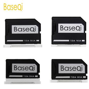 BaseQi Aluminium Adapter karty pamięci Micro SD TF Rozwiń Czytnik kart pamięci SD dla MacBook Pro Retina 13 #8222 15 #8221 i MacBook Air 13 #8222 tanie i dobre opinie Wewnętrzny Pojedyncze Karty tf iSDA