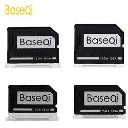 BaseQi di Alluminio Micro SD/Carta di TF Adattatore di Espansione di Memoria lettore di Schede SD Per Macbook Pro Retina 13 ''/ 15