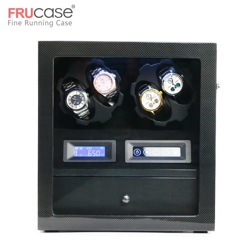 Montre remontoir boîte montre affichage montre armoire montre collecteur avec écran tactile LED affichage 4 + 5