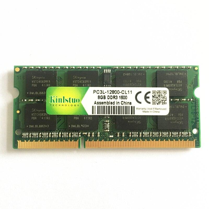 Kinlstuo nouveau ddr3 ram 8 gb 1600 MHz PC3L-12800 ddr3L mémoire d'ordinateur portable