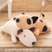 1pc Big Size 50cm Plush Lie Cattle Pillow Stuffed Bull Terrier Plush Toy Super Soft Nap Pillow Baby Toy Christmas Gift