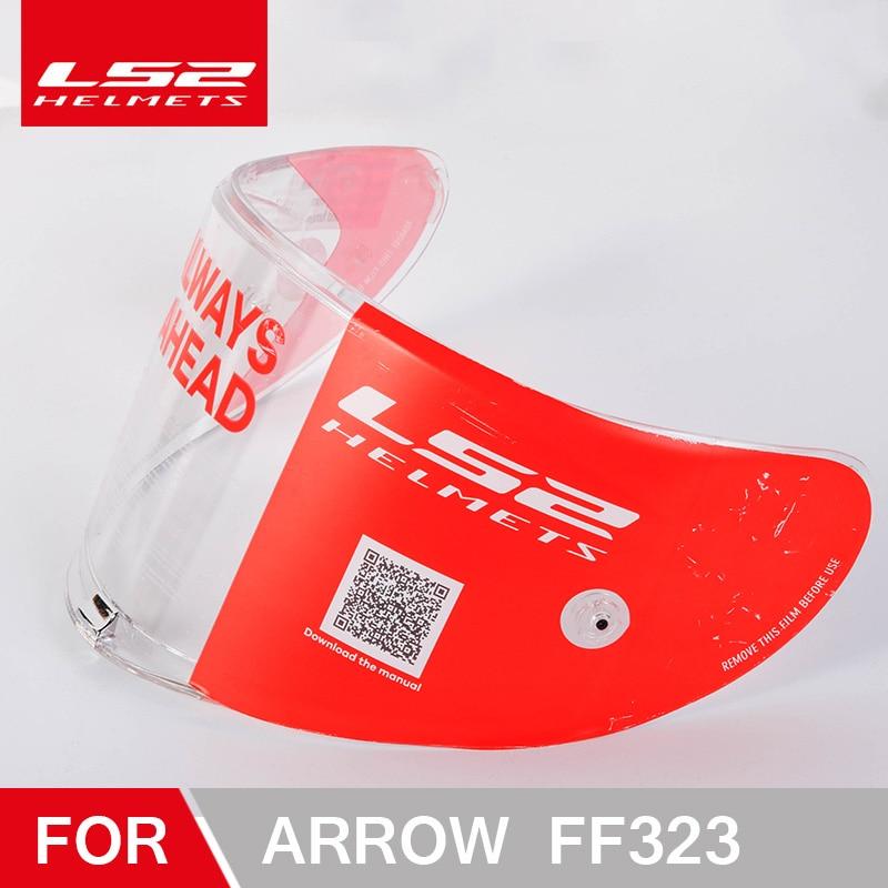 Original LS2 flèche casque visière clair noir argent coloré bouclier adapté pour LS2 FF323 casque lentille