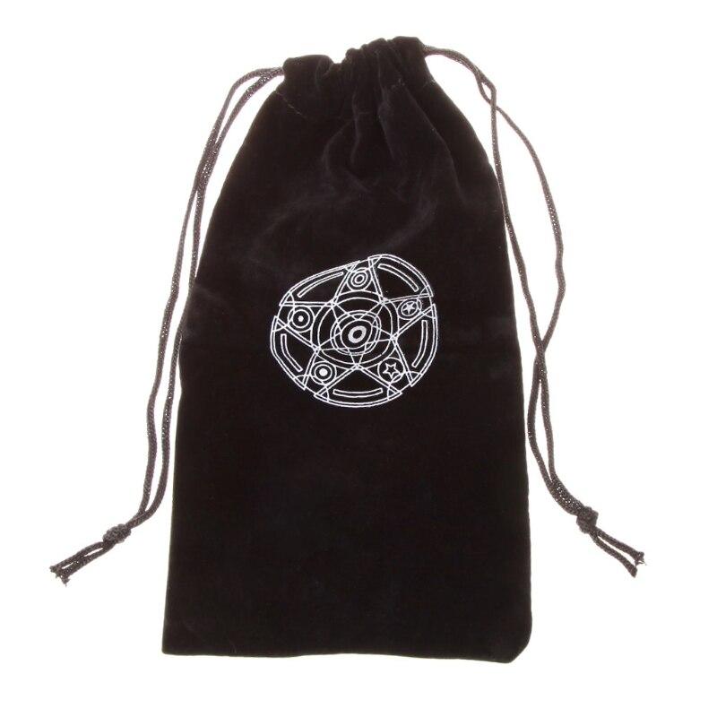 Бархатная пентаграмма Таро сумка для визитных карточек игрушки украшения дома Мини Drawstring посылка настольная игра сумка для хранения