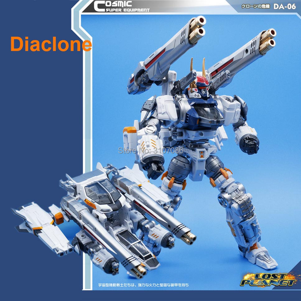 MFT Diaclone Diakron DA06 DA 06 Transformation Lost Planet Series warrior action figure robot collection toys