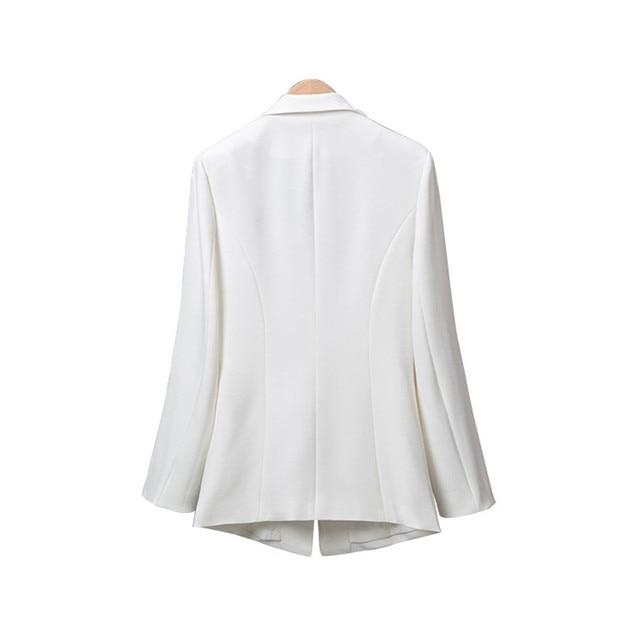 New 2018 Autumn Plus Size 7XL Women Blazers Long Sleeve Solid Blazer Fashion Asymmetrical Split Slim Outerwear 3