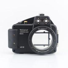 Meikon 40m/130ft Diving Camera Waterproof Housing Case for Sony Nex-5 16mm lens