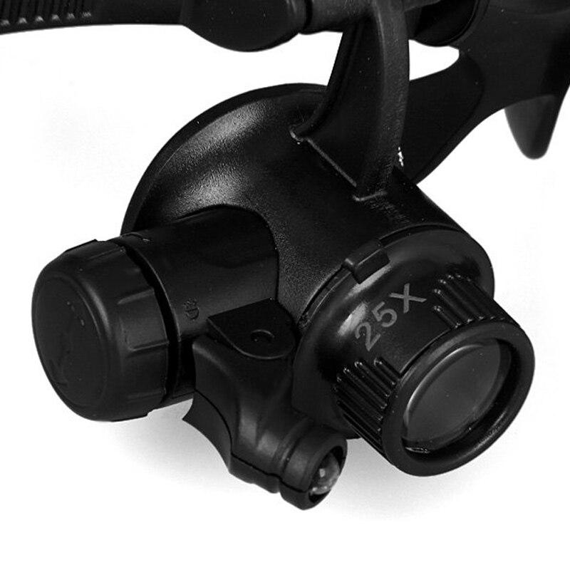 Lupa Lupas 10X 15X 20X 25X Lupa Gafas de doble ojo Lupa Lente Joyero - Instrumentos de medición - foto 4