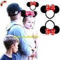 Venda quente Crianças Hairbands Acessórios Para o Cabelo Para O Bebê Meninas Red Bow Dot Minnie Ouvido Mulheres Headband Menina Headwear JQ9