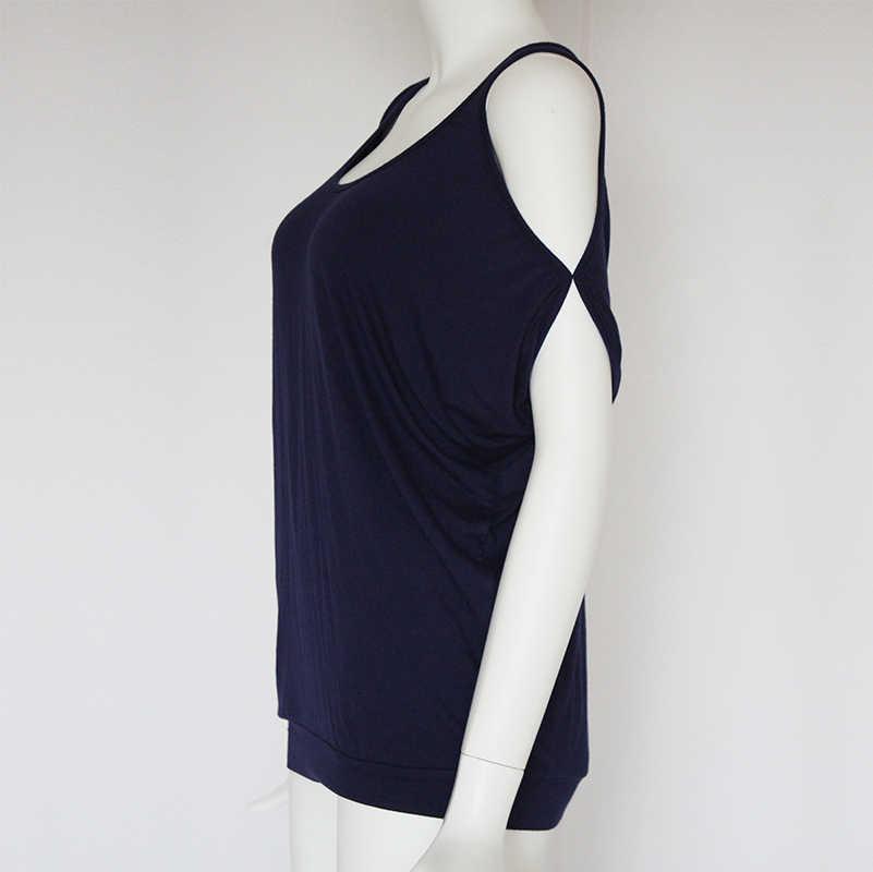 女性ブラウス 2019 夏カジュアルセクシーなオフショルダーブラウスシャツバットウィング半袖レースアップ固体 O ネック純粋なトップス blusas