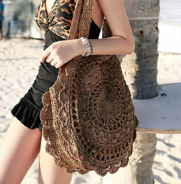 2018 Summer Bohemian Straw Bags Women Big Beach Tote Handbags Vintage  Rattan Bag Handmade Woven Travel Bags 7f3dc5190a