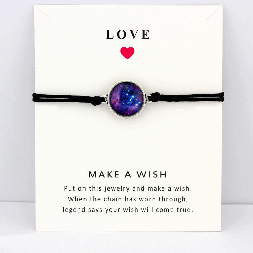 Космическая галактика Вселенная Звездная Туманность карты браслеты драгоценный камень звезда луна 18 мм стекло кабошон Шарм ювелирные изделия для женщин мужчин подарок Прямая поставка
