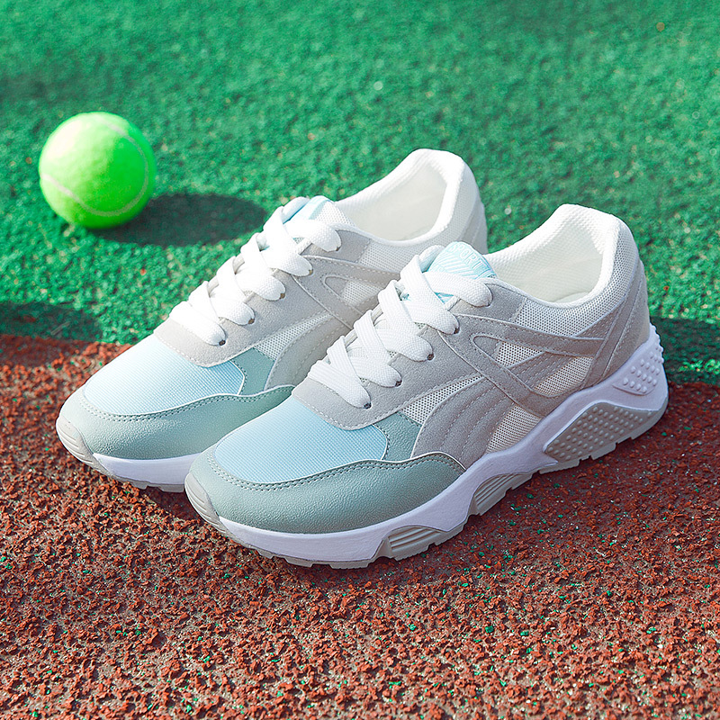 Mesh Breathable Sports Shoes Allmatch Korean Students Running Shoes Wholesale Tidal Flat Women Shoes Net Flat New Style Sneaker