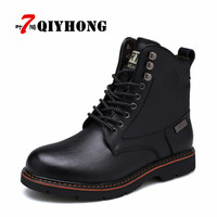 Hot Newest Keep Warm Men Winter Boots High Quality Genuine Leather Wear Resisting Casual Shoes Working Fahsion Men Martin boots