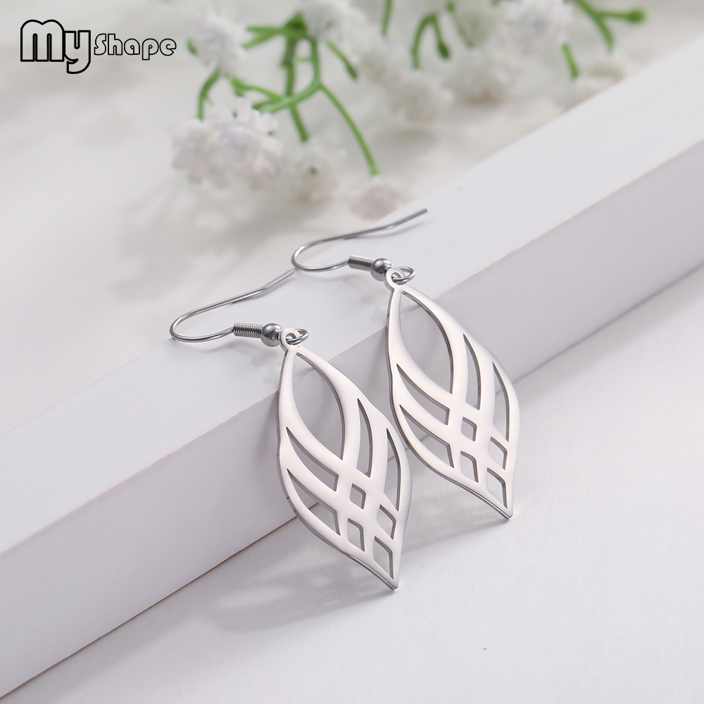 My Shape Jewelry Accessories Dangle Earrings 316L Stainless Steel Fashion Drop Earring Women Silvery Golden Black Gift For Women