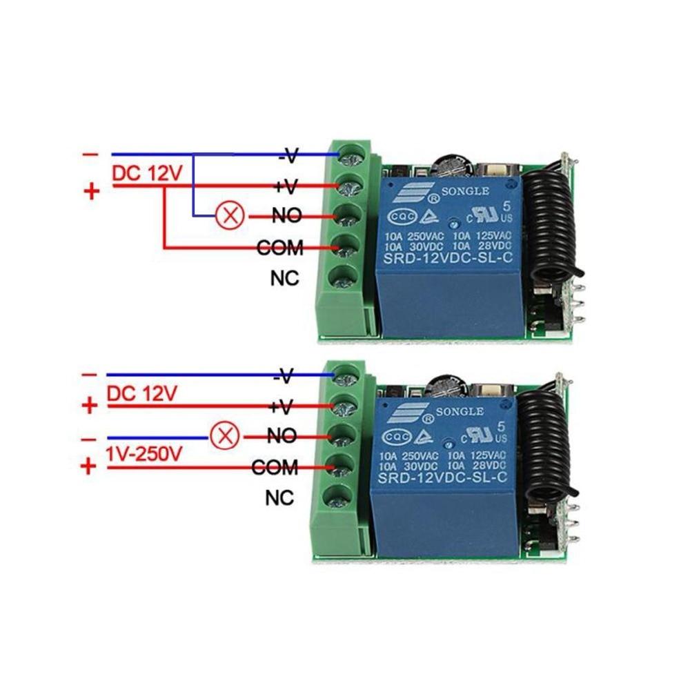 433MHz-Universal-Wireless-Remote-Control-Switch-DC-12V-1-CH-RF-Relay-Receiver-433-MHz