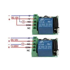Image 5 - 433 433mhz のユニバーサルワイヤレスリモートコントロールスイッチ dc 12 v 1CH リレー受信モジュールと rf トランスミッタ電子ロック制御 diy