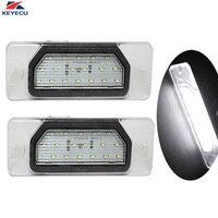 KEYECU 2x12โวลต์6000พัน18SMD LEDจำนวนใบอนุญาตแผ่นแสงที่ใช้สำหรับInfiniti FX35/45 Q45 I30 I35 M37 M56