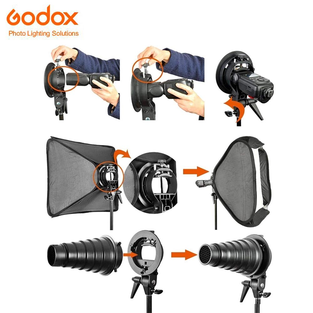 Flashbox Godox Softbox SFUV8080 Folding 80 * 80 cm + Mbajtës i - Kamera dhe foto - Foto 6