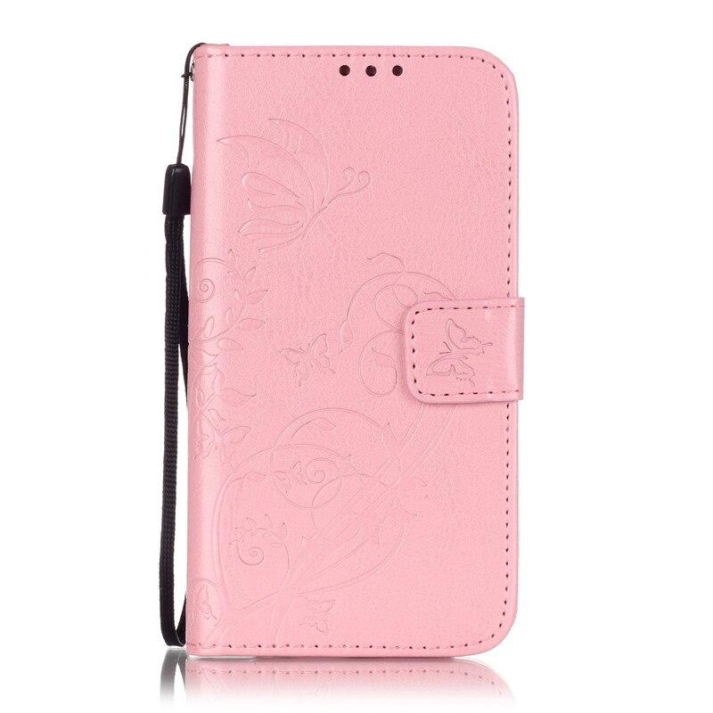 Бабочка Цветок Hoesje Для Samsung Galaxy S7 Кожаный Чехол Flip Стенд с Ремешок Силиконовый Чехол Для Galxy S 7 G930 G930F Случае
