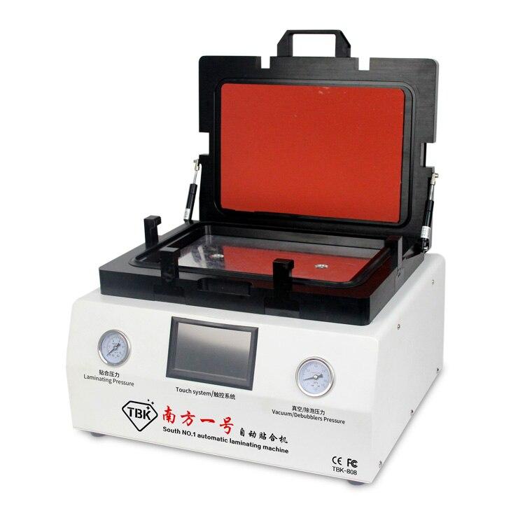 Tbk-808 ОСА Вакуумный Ламинатор автоматическое Пузырь Удаление машина с автоматической блокировки газ для ЖК-дисплей Сенсорный экран ремонт