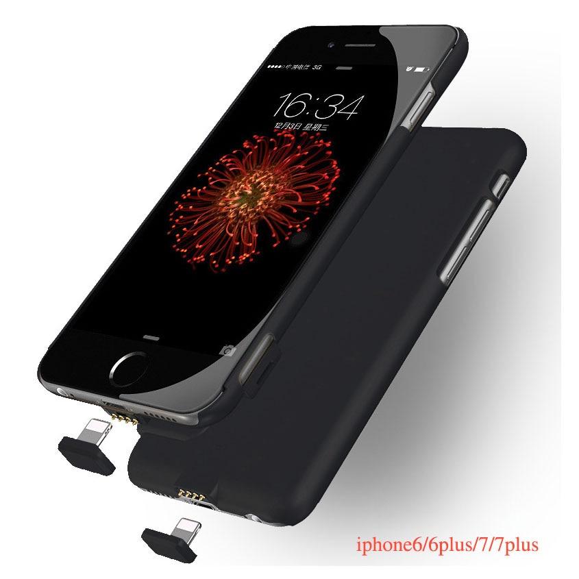 imágenes para 1500 mAh/2000 mAh Power Bank Cargador de Batería Externa Ultra Delgada Caja Del Teléfono cubierta Para el iphone 6 6 S 7 7 Más La Batería De Respaldo caso