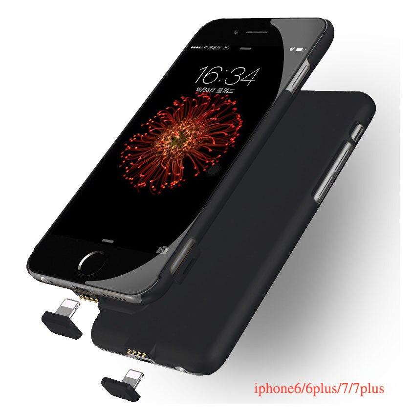 bilder für 1500 mAh/2000 mAh Ultra Dünne Stromversorgungsanlagebank Ladegerät Telefon Fall abdeckung Für iPhone 6 6 S 7 7 Plus Pufferbatterie fall