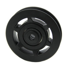 10X Wholesale 95mm Black Bearing Pulley Wheel Cable Gym Equipment Part Wearproof(China)