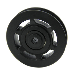 10X Wholesale 95mm Black Bearing Pulley Wheel Cable Gym Equipment Part Wearproof