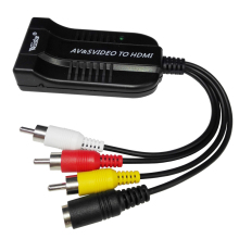 Male AV CVBS/S-Video to HDMI Converter Composite 3RCA AV/S-Video to HDMI Adapter Support 1080P for HDTV DVD цена и фото