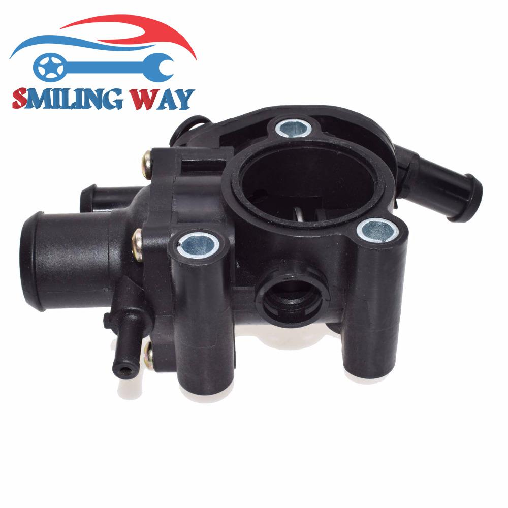 smiling way coolant thermostat housing assembly for ford. Black Bedroom Furniture Sets. Home Design Ideas