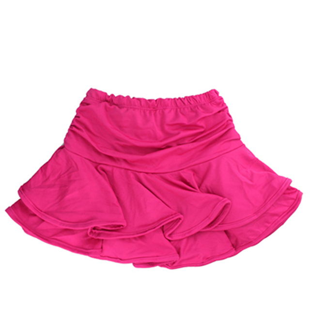 Girls Dance Skirt Latin Salsa Cha Cha Rumba Samba Modern Ballroom Skirts With Shorts 10 Colors 5