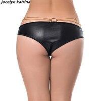 Jocelyn Katrina marca Bragas mujeres tamaño m-6xl Ropa interior tangas para cadena de cuero de imitación decoración Ropa interior sexy