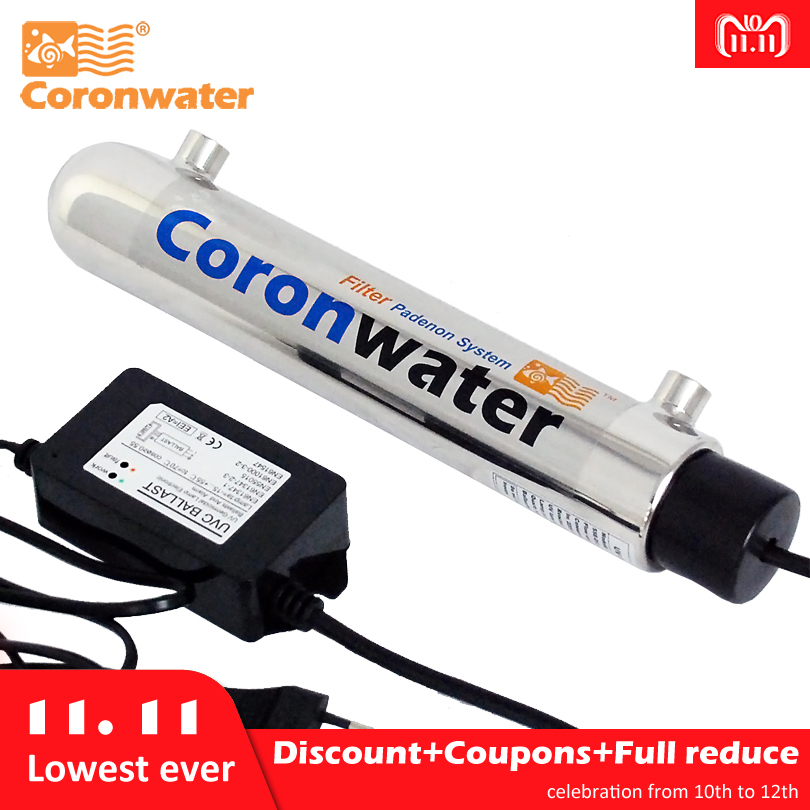 Coronwater 1gpm Water UV Disinfection Sterilizer Purification System for Household Water Filter coronwater 72 gpm uv disinfection sbv 5925 6p