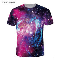 Varsanol Brand O Neck Men/Women T shirts 3D Print Men's Tshirts Funny Purple Sky Summer Short Sleeve Cool Male Tops Good Quality