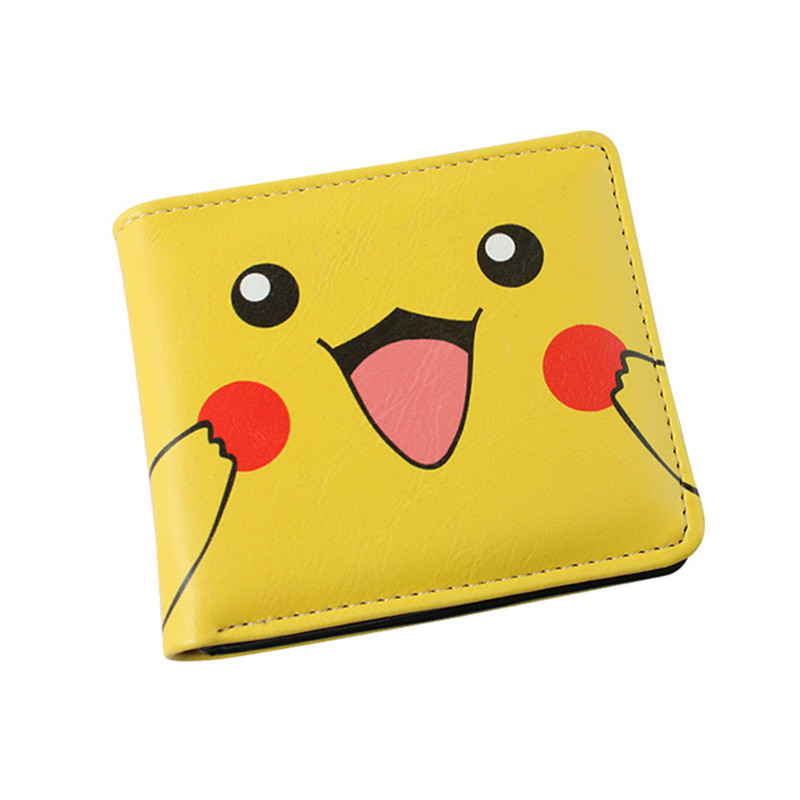 Free Shipping Anime Cartoon Wallet Pocket Monster Pikachu Purse Two/Three Fold Wallets anime pu short yellow purse button wallet printed with pikachu of pikachu