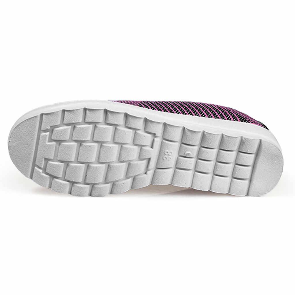 รองเท้าสบายๆ Breathable รองเท้าแบนคลาสสิกผ้าฝ้ายไม่ผูกรองเท้าผ้าใบขี้เกียจรองเท้าสีดำรองเท้า Zapatos De Mujer #10