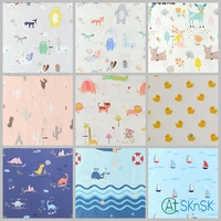 250cm width Creative DIY for quilt lovely cartoon felt printed cotton cloth flannel baby quilting cotton fabrics for patchwork