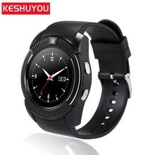 KESHUYOU kV8 호출 알림 패션 스마트 시계 안드로이드 여성 시계 smartwatch 블루투스 손목 시계 휴대 전화 sim 카드
