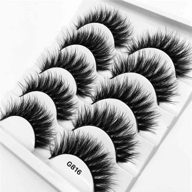 5 Pairs 3D Mink False Eyelashes 1