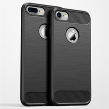 Carbon Fiber Phone Cases For iPhone X XS iPhone6 6s Plus SE 5 5s Cases Soft Anti-Knock Cover For iPhone 6 7 8 Plus X Capa Coque cheap HERECASE Fitted Case Soft Cases Soft Plastic Apple iPhones IPHONE 6S Matte Plain Dirt-resistant For iPhone 5 iphone 5s iphone se Case Cover