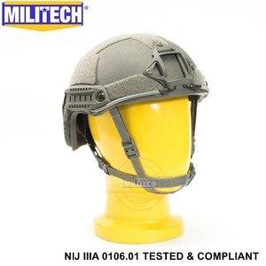 Image 4 - ISO Certified MILITECH FG NIJ Level IIIA 3A FAST OCC Liner High XP Cut Bulletproof Aramid Ballistic Helmet With 5 Years Warranty